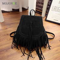 Matte Leather Tassel Backpack Women School Bags for Teenagers Backpacks for Teenage Girls Leather Backpack Mochila Feminina SN9