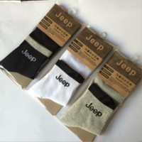 """JEEP""Sports men socks tube of men socks in high-grade cotton socks A set for THREE pairs"