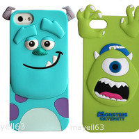 3D SULLY SULLEY MONSTERS INC CUTE SOFT CASE COVER FOR PHONE IPHONE 4 4s + 5 5S