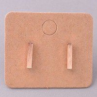 Draw a Line Earrings - Rose Gold