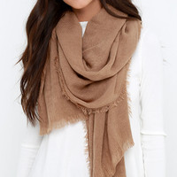 Second Star to the Right Tan Scarf