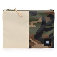 Men's Herschel Supply Co. 'Network XL - Studio Collection' Water-Resistant Coated Canvas Pouch - Green