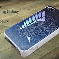 Attack on Titan Scouting Legion for iphone case, Samsung Galaxy Case, iPod Case, HTC Case, Blackberry Case, Sony Case