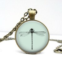 Minimal Dragonfly Necklace