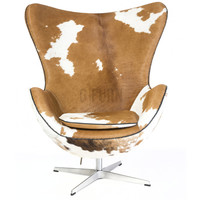 Reproduction of Arne Jacobsen's Egg Chair (Cow skin) | GFURN