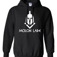 Molon Labe Come and Take them Greek Spartan ban guns Second 2nd Amendment American 300 Obama Hoodie Hooded Sweatshirt Mens Ladies Mad ML-269
