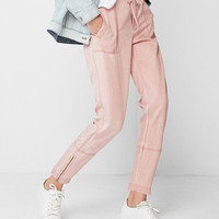 High Waisted Ankle Zip Cargo Pant