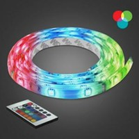 BAZZ, 10 ft. Multi-Color Self-Adhesive Cuttable Rope Lighting with Remote Control, U00035RG at The Home Depot - Mobile
