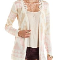 Multi Aztec Open Cardigan Sweater by Charlotte Russe
