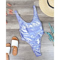Final Sale - Dippin' Daisy's - Cleavage High Cut One Piece - Lilac Paradise