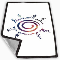 Naruto Kyuubi Seal Nebula Galaxy Blanket for Kids Blanket, Fleece Blanket Cute and Awesome Blanket for your bedding, Blanket fleece *