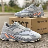 Adidas Yeezy 700 Runner Boost New Fashion Retro Sneakers Sport Running Leisure Women Men Shoes Grey