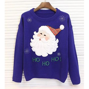 2016 winter knitted ugly christmas jumper women sweater ladies jumpers sweaters and pullovers fake mink cashmere knitwear coat