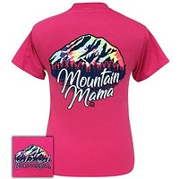 Girlie Girl Originals Preppy Mountain Mama Tie Dye T-Shirt