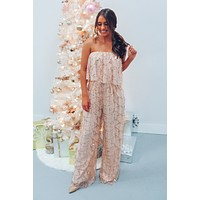 Be Dazzled Jumper: Nude/Gold