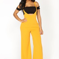 High Points Overall Palazzo Pants - Mustard