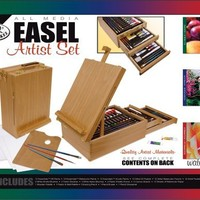 Royal & Langnickel 104-Piece All Media Easel Artist Set   AihaZone Store
