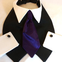 RockinDogs Dog Tuxedo with Necktie Collar and Cuffs Custom--Match your Wedding Colors