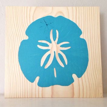 Customizable Sand Dollar Sign, Stained and Hand Painted, nautical/ beach decor, birthday gift, home decor, vacation house, summer decor