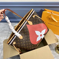 LV Louis Vuitton Game on Poker Print Handbag Shopping Bag Two Piece Set