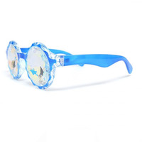 Blue Crown Kaleidoscope Glasses