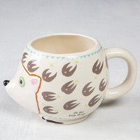 Hedgehog Folk Art Mug