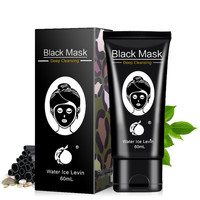 Black Mask Deep Cleansing Tearing Style Resist Oily Strawberry Nose Acne Black Mud Mask Face Skin Care