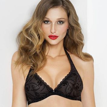 LISE CHARMEL ANTIGEL SHEER LACE TRIANGLE BRA JOLIE