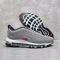 Nike Air Max 97 LX Swarovski Crystal METALLIC Silver Bullet Running Shoes Sport Shoes 927508-001