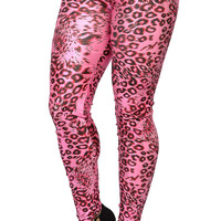 Pink Leopard Print Leggings Design 185