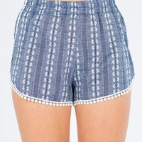 Christabel Embroidered Chambray Short