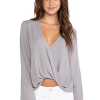 Blue Life Hayley Top in Gray
