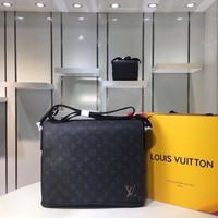 LV Monogram Eclipse Canvas Bags Messenger Bags District Mm 26x32x8cm