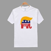 new Fahion Man Clothing Summer Letter Cotton Donald Trump For President 2016 T Shirt Make America Great Again Men T-shirt Te