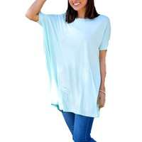Authentic Piko Short Sleeve Tunic, Mint
