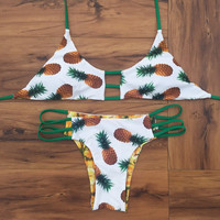 Fashion Fruits pineapple print bikini