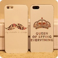 Cute Mustache and Crown Case for iPhone | Eco-friendly Items In Summer