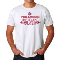 Paramedic Live Saver Men's White T-shirt