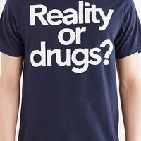 Reality Or Drugs Tee- Navy