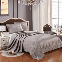 Home textile silver gray quilt bedspread Summer comforter pink blanket king bedding 3pcs(one quilt +two pillowcases) bed cover