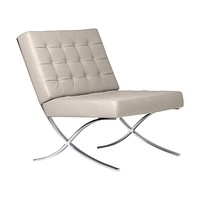 Studio Designs Home Modern Atrium Accent Chair Lounge Chair for Living Room, Bedroom, Bonded Leather, Mushroom, 72006 Mushroom Bonded Leather