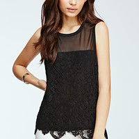 Baroque Lace Overlay Top