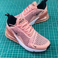 Nike Id Air Max 270 Coral Stardust Women's Sport Running Shoes - Best Online Sale