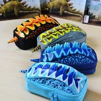 Boys Stationery Cool Dinosaur Pencil Bag School Pencil Case Pen Case Box Pouch School Supplies