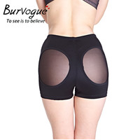 Burvogue Women Plus Size Butt Lifter Booty Bodyshaper Short Enhancer Tummy Control Panties Body Shaper Slimming Underwear