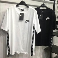 NIKE summer trendy men and women couples casual knit short-sleeved T-shirt F-MG-FSSH