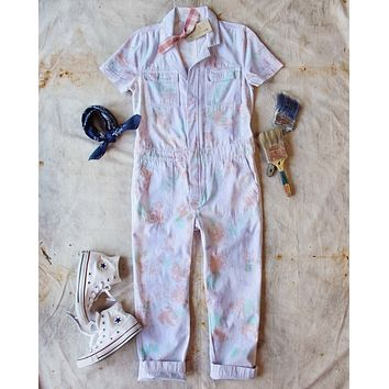 Rosie Coverall Jumpsuit in Watercolor