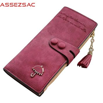 Assez sac new arrival women wallets pu leather wallet large capacity ID holders fashion ladies purse credit card keeper bolsas
