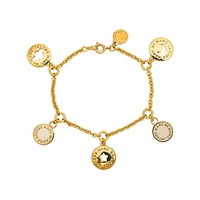Marc by Marc Jacobs New Classic Marc Cosmic Coins Bracelet in Metallic Gold