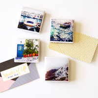 Greece magnets, photo magnets, gifts under 20, fridge magnets, home gifts, office gifts, refrigerator magnets, tile magnet set, tiny magnets